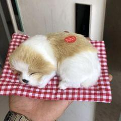 Simulation Will Call the Sleeping Dog Ornaments Toy Creative Doll Children Gift (Earth White)