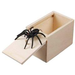 3 PCS April Fools Day Gift Wooden Prank Toy Spoof Spider Box (White Box)