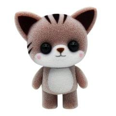Little Cute PVC Flocking Animal Cat Dolls Creative Gift Kids Toy, Size: 5.5*3.5*6.5cm (Coffee)