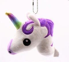 Babies Unicorn Horse Keychain Keyring Bag Charm Pendant Color Lovely Small Pendant (Purple)