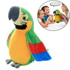 Plush Toy Parrots Recording Talking Parrots Will Twist the Fan Wings Children Toys, Size:Height 18cm (Green)