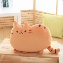 3 PCS Soft Plush Stuffed Animal Doll Anime Toy Cute Cushion (Brown)