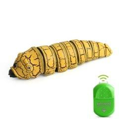 9910A Infrared Sensor Remote Control Simulated Insect Creative Children Electric Tricky Toy Model (Yellow)