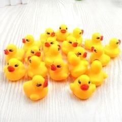 10 PCS Squeeze Vocal Rubber Duck Children Bath Toys Educational Toys (Yellow)