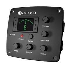 JOYO JE-305 Guitar Pickup 4-Band EQ Preamp Tuner Pickup Equalizer with Tuning Function (Black)