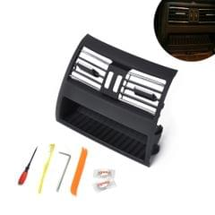 Car Plating Rear Console Grill Dash AC Air Vent 64229172167 for BMW 5 Series, with Installation Tools