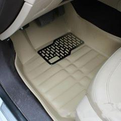 3 PCS Car Anti-slippery XPE Soft Floor Protector Carpet,The Buyer Must Provide The Model (Khaki)