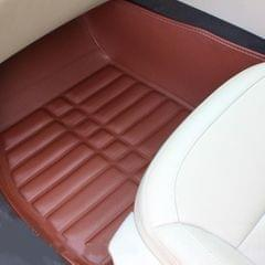 3 PCS Car Anti-slippery XPE Soft Floor Protector Carpet,The Buyer Must Provide The Model (Brown)