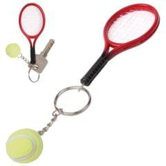 Tennis Racket Style Keychain Decor Pendant (Red)