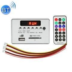 Car 12V Audio MP3 Player Decoder Board FM Radio SD Card USB AUX, with Bluetooth / Remote Control (Silver Grey)