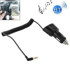 Car Charger Bluetooth 3.5mm AUX Audio Receiver Music Adapter with USB Port for iPad / iPhone 5 & 5C & 5S / iPhone 4 & 4S / Galaxy S IV / S III, DC 5V / 2.1A, Cable Length: 30cm (Black)