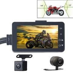 MT-80 3.0 inch 140 Degrees Wide Angle HD Video Motorcycle Dual  Camera DVR, Support TF Card