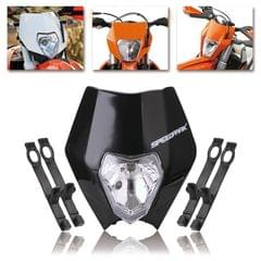 Speedpark KTM Cross-country Motorcycle LED Headlight Grimace Headlamp (Black)
