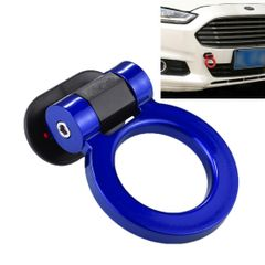 Car Truck Bumper Round Tow Hook Ring Adhesive Decal Sticker Exterior Decoration (Blue)