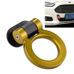 Car Truck Bumper Round Tow Hook Ring Adhesive Decal Sticker Exterior Decoration (Yellow)