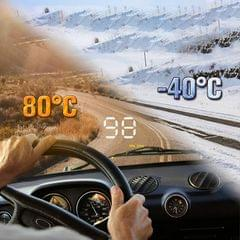 A1000 HUD 3.5 inch OBD II Car Head Up Display, Speed & Over Speed Alarm, Water Temperature & High Water Temperature Alarm, Voltage & Low Voltage Alarm, Fatigue Driving, Engine Failure, Shift Reminder (Black)