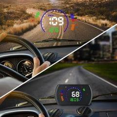 S600 Multi-function HUD 5.8 inch OBD2 Windshield Projector Head-up Display, Speed & RPM & Water Temperature & Oil Consumption & Driving Distance / Time & Voltage Display, Over Speed Alarm