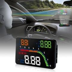T100 OBD2 4 inch Vehicle-mounted Head Up Display Security System, Support Car Speed / Engine Revolving Speed Display / Instantaneous Fuel Consumption / Detection and Elimination Fault Code