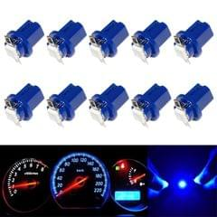 10 PCS T8.5 5050 Led 1 SMD Car Gauge Dash Bulb Dashboard Instrument Light Wedge Interior Lamp (Blue)