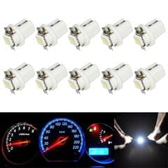 10 PCS T8.5 5050 Led 1 SMD Car Gauge Dash Bulb Dashboard Instrument Light Wedge Interior Lamp (White)
