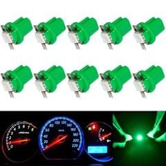 10 PCS T8.5 5050 Led 1 SMD Car Gauge Dash Bulb Dashboard Instrument Light Wedge Interior Lamp (Green )