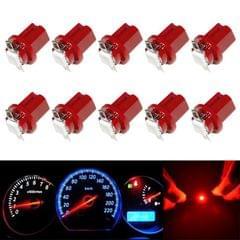 10 PCS T8.5 5050 Led 1 SMD Car Gauge Dash Bulb Dashboard Instrument Light Wedge Interior Lamp (Red)