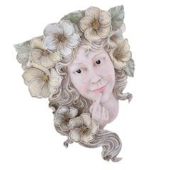 Vintage Wall Hanging with Girl Sculpture Decoration for Garden Courtyard LivingRoom Background,11.8 x 8.3 x 3.93inch