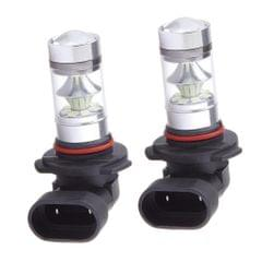 2 Pieces Car 9006 HB4 100W Ice Blue LED Bulb For Fog Running DRL Light Lamp