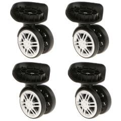 4 Pieces Replacement Travel Luggage / Trolley Case Universal Swivel Casters Dual Roller Bearing Wheels for DIY / Repair [YJ-002] - Black