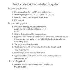 Creative Guitar Style USB 2.0Flash Drive Data Storage Thumb Pen Drive 512M