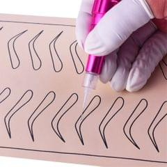 100 Pieces Microblading Permanent Makeup Needles For Tattoo Eyebrow Pen 5R