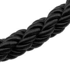 Twisted Barrier Rope Queue Nylon for Posts Stands Exhibition Crowd 6.6ft Black