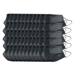 50x Washable Reusable Mouth Face Mask Cover Anti-Dust Haze Prodution Black