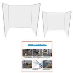 Sneeze Guard Plastic Table Desk Counter Shield for Office School  60x15cm