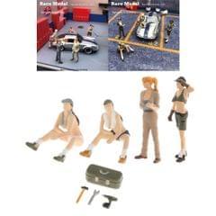 1/64 Doll Scenario Figures Plastic Repairman Figurine Doll Layout Scenery Style1