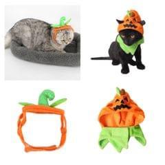 Halloween Pumpkin Cat Hat Small Pet Dog Ornament Halloween Trick Treat Cap 1