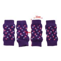 4 Pcs Winter Snow Warm Dog Leg Socks for Small Medium And Elderly Dog M