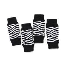 4Pcs/Set Dog Leg Socks Leg Warmers Protector, Puppy Legs Brace Wraps Black S