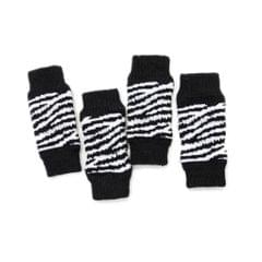 4Pcs/Set Dog Leg Socks Leg Warmers Protector, Puppy Legs Brace Wraps Black M