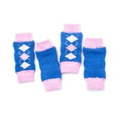 4Pcs/Set Dog Leg Socks Leg Warmers Protector, Puppy Legs Brace Wraps Blue S