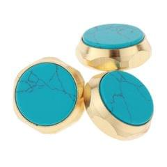 Colored Trumpet Finger Buttons Musical Brass Instrument Parts Blue