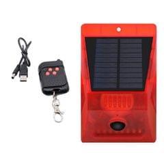 Solar Alarm Light IP65 Motion Sensor Outdoor Garden Deck Security Lamp