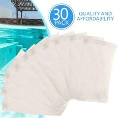 30Pcs White Nylon Swimming Pool Filter Storage Pool Skimmer Socks Saver