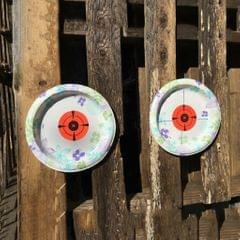 125 Shooting Targets Gun Range Pasters 3inch Circle Adhesive Stickers red