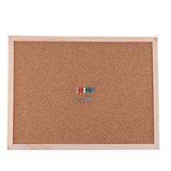 Wood Frame Bulletin Cork Board Message Board Office&School Supplies 30x40cm