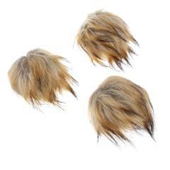 3Pc Craft Fluffy Faux Fur Pom Pom Ball Keychain for Hat Bag Accessories 14cm