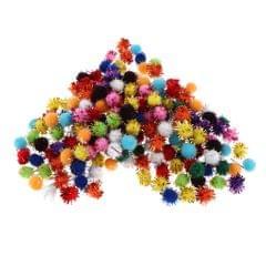 200/300Pcs Multicolor Sparkle Balls Pom Poms Ball Art Craft Glitter