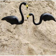 Plastic Flamingo Lawn Figurine Garden Grassland Decor Ornament Black #1