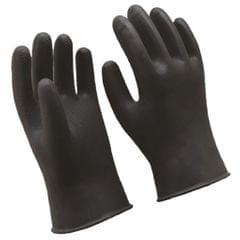 Long Industrial Rubber Latex Gloves Work Safety Gardening Gloves Black 36cm