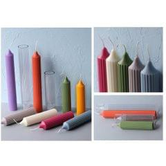 Pillar Shaped Clear Candle Mold Wax Candle Mould for Candle Making Crafts